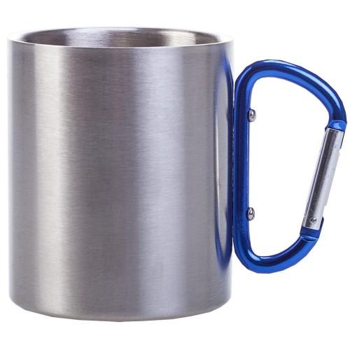 Кружка металл. с голубой ручкой карабин 300мл
