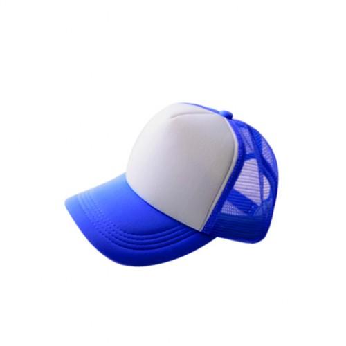 Бейсболка субл. синяя с белым полем для печати (сетка)