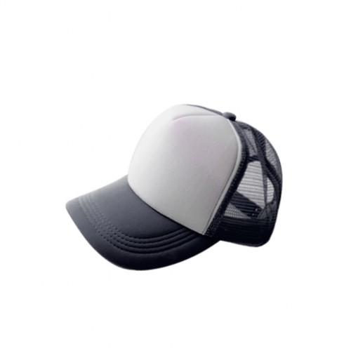 Бейсболка субл. черная с белым полем для печати (сетка)