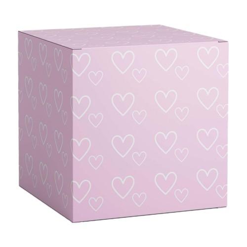 """Коробка под кружки """"Розовое сердце"""""""