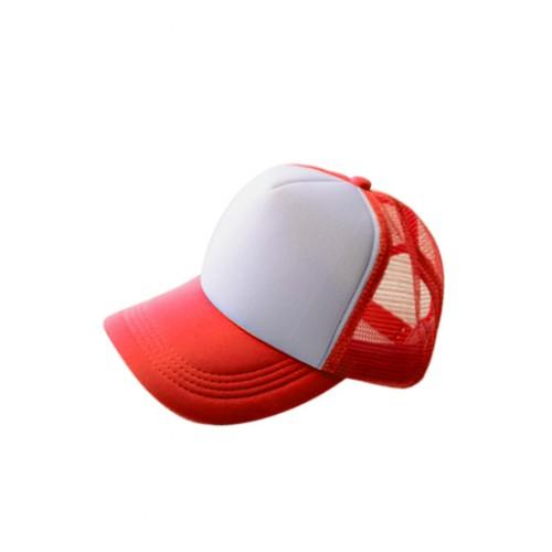 Бейсболка субл. красная  с белым полем для печати(сетка)