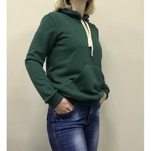 Толстовка мужская из футера, зеленая(ПЕТЛЯ)