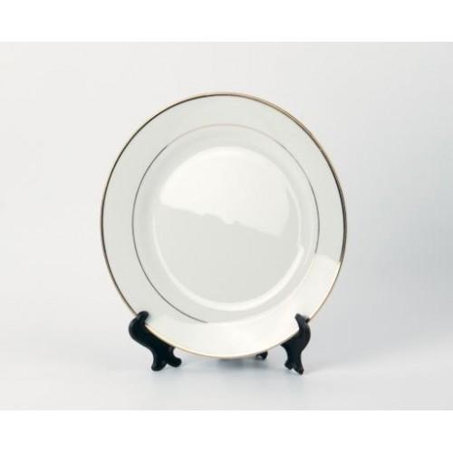 Тарелка белая с золотым ободком 7,5 дюймов стандарт