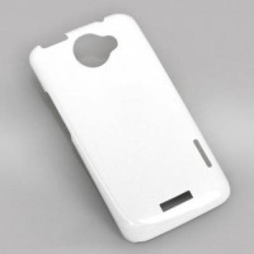Чехол для 3D HTC One Х, пластик, белый глянцевый