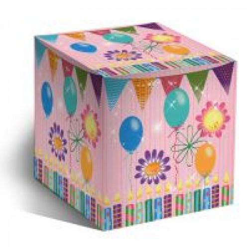 """Коробка под кружки """"С Днем Рождения"""""""