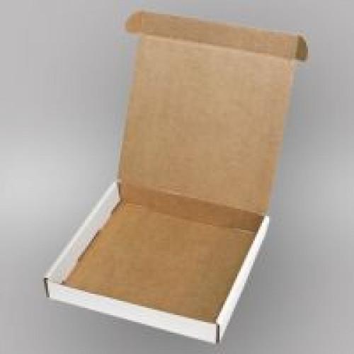 Коробка под тарелки (белая, ГОФРА)