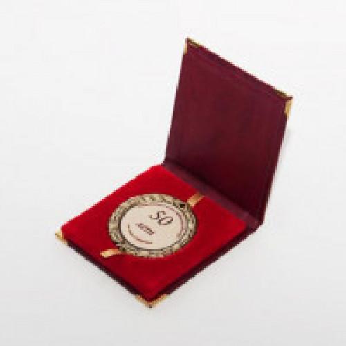 Подарочная коробка для медали красная