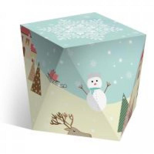 """Коробка под водяной шар """"Новогодняя анимация"""""""
