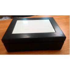 Шкатулка черная из дерева с рамкой для фото ,15*20см