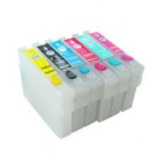 Перезаправляемый картридж T0821-Т0826 for Epson Stylus Photo R270/R290/TX700/R295/R390/RX590/RX610/