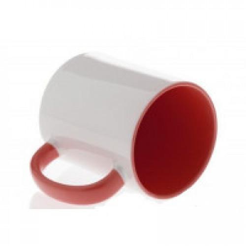 Кружка красная внутри+ручка СТАНДАРТ