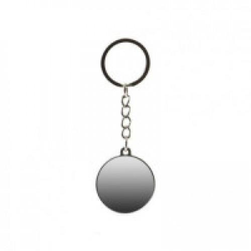 "Брелок ""круг"" (вставка) серебро металл 29 мм"