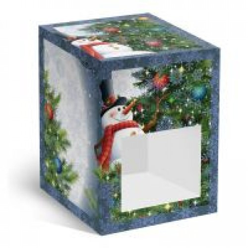 "Коробка под елочный шарик ""Снеговик"""