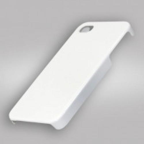 Чехол для 3D для iPhone 4/4S, пластик белый глянцевый